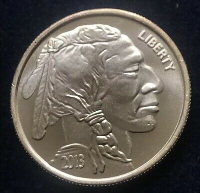 2013 Liberty Indian Head Buffalo 1 Oz .999 Fine Silver Round Excellent