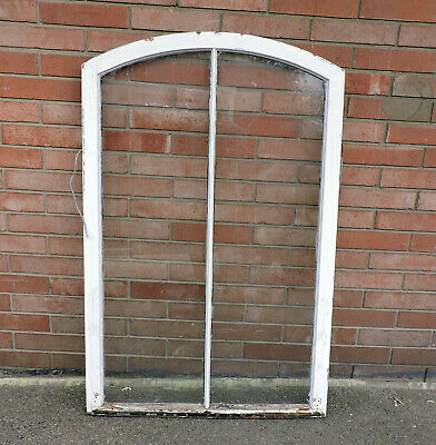 """Large Antique Arched Wood Window Sash Architectural Salvage 53.75"""" X 34.5"""""""