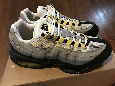 954a95c0f6265 NIKE Air Max 95 Tour Yellow Grey Size 11.5 609048-105 2011 OG neon volt