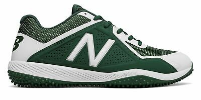 New Balance Low-Cut 4040v4 Turf Baseball Cleat Mens Shoes Green with White Size
