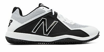 New Balance Low-Cut 4040V4 Turf Baseball Cleat Mens Shoes White With Black