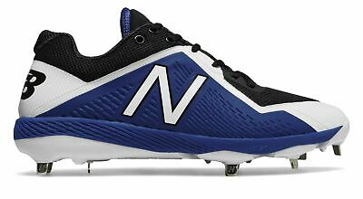 New Balance Low-Cut 4040V4 Metal Baseball Cleat Mens Shoes Black With Blue