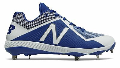 New Balance Low-Cut 4040v4 Metal Baseball Cleat Mens Shoes Blue with White Size