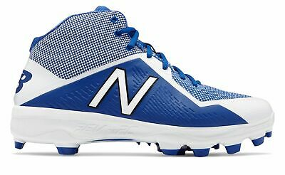 New Balance Mid-Cut 4040v4 TPU Baseball Cleat Mens Shoes Blue with White