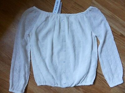 Bnwt River Island Off Shoulder White Top Size 7 Years