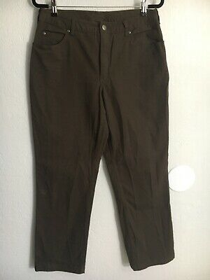 ca79995e7c6fb Duluth Flex Fire Hose Slim Leg Work Pants Womens Size 12X33 Bourbon Brown