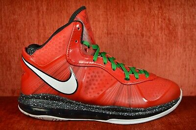 774c0024f88a CLEAN NIKE LEBRON 8 VIII V2 CHRISTMAS SOLDIER 429676-600 Size 9.5 Red Green