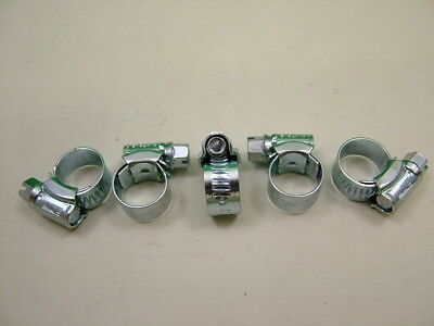 Hose clips pipe clamps genuine British made 9.5-12mm pack of 5 jubilee size 000