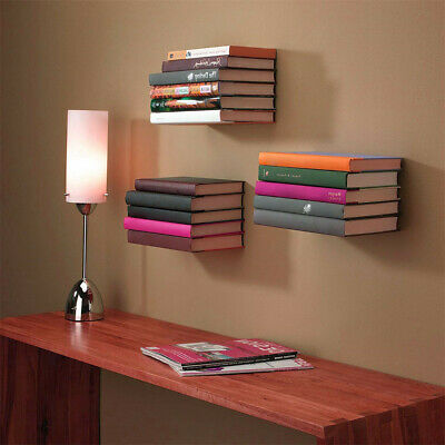 Stainless Floating Eco Shelf Bookrack Storing Displaying Your Books Space Saving