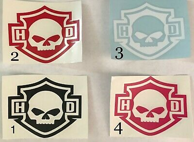 Permanent Harley Davidson Style Vinyl Decal Small $9.99 or Big $18.99 Each.