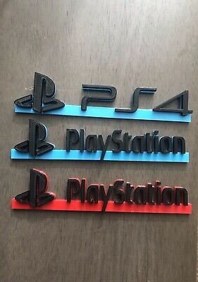 REVISED PlayStation / PS4 red blue video game logo sign accessory 3d printed 8in