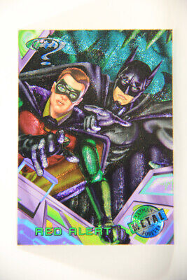 L010400 DC Batman Forever METAL 1995 Trading Card - Red Alert #89