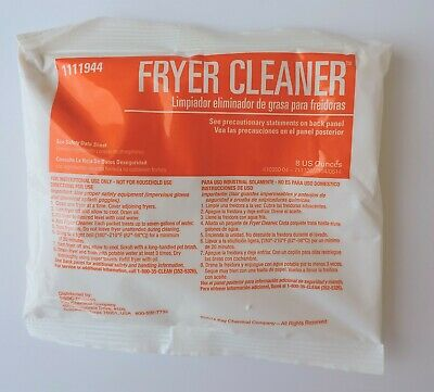 SSDC 1111944 Deep Fryer Cleaner Removes Baked On Carbon & Grease 8oz Pkg QTY 24