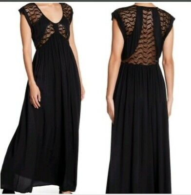 NWT rtl$98 Love Stitch Boho Long Maxi Dress Crochet Lace Nordstrom Anthropologie