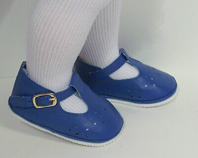 DK BLUE Old Fashion T-Strap Tstrap Cut-Out  Doll Shoes For Chatty Cathy (Debs)