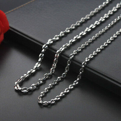 Wholesale 4mm 5mm 20-24'' Stainless Steel Coffee Bean Chains Necklaces