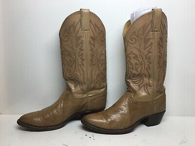 4dae2486932 JUSTIN MENS SIZE 9 D Exotic Black Lizard Skin Cowboy Boots Leather ...