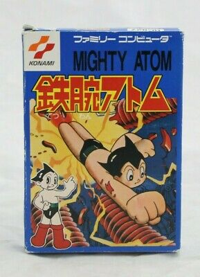 Mighty Atom Astro Boy Nintendo Famicom Game and Box No Manual JP Import NA Sell