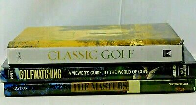 Enjoyable Lot Of 3 Golf Books The Masters Golfwatching Oversize Gmtry Best Dining Table And Chair Ideas Images Gmtryco