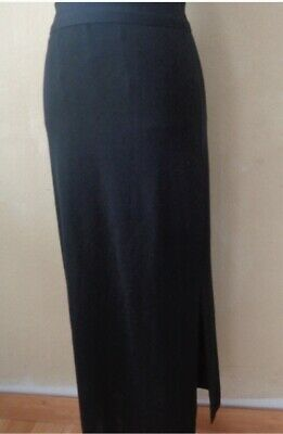 27f36027497f EUC Exclusively Misook Long Straight Pencil Skirt Size S Small Solid Black