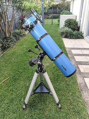 "Skywatcher Telescope 150/1000 with 1.25"" Plossl Eyepiece Set 4/10/25mm+2X Barlow"