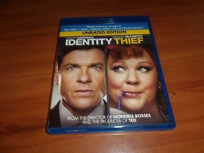 Identity Thief (Blu-ray/DVD, 2013, 2-Disc Unrated) Used  Melissa Mccarthy