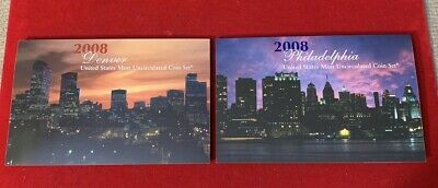 2008-P&D United States Mint Uncirculated Coin Set Free Shipping