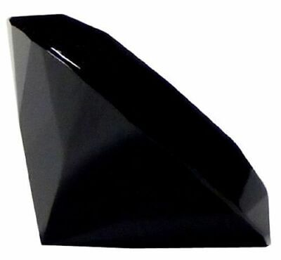 Black Crystal Paperweight Cut Glass Large Giant Diamond Jewel Wedding Gift 40mm