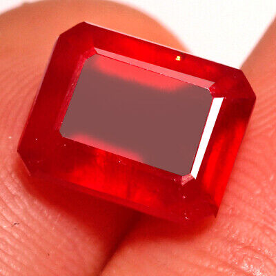 4.7ct Natural Mozambique Pigeon Blood Red Ruby Faceted Cut Uqhb312 Jewelry & Watches Natural Rubies