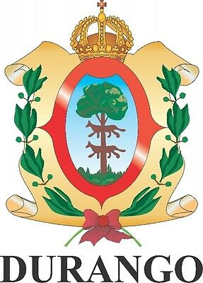 2 (PCS) Durango Mexico. Coat Of Arms Decals Stickers Full Color/Weather Proof
