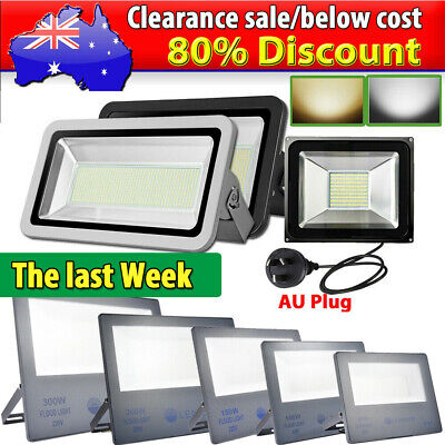 10W- 1000W LED Flood Light Cool Warm White Work Wall Spot Floodlights IP65 240V