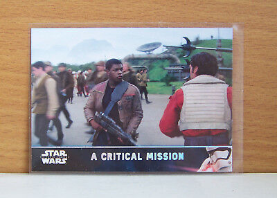 Star Wars The Force Awakens series 2 A critical mission #80 Holofoil card