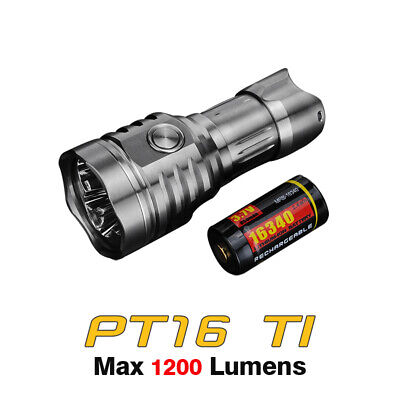 CREE LED Onforu 1200LM Rechargeable LED Torch 6000mAh Battery 16 Hours Super 4