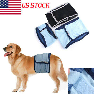 28fb6c214f6 Cool Male Pet Dog Puppy Belly Wrap Band Diaper Nappy Pants Sanitary  Underwear US