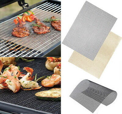 1 Pcs Glass Fiber Non-stick Bbq Grill Mat Barbecue Baking Liners Reusable Cooking Sheets Cooking Bbq