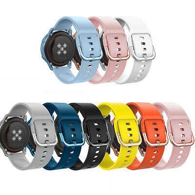 3Pack Soft Silicone Replacement Sport Strap Band for Samsung Galaxy Watch Active