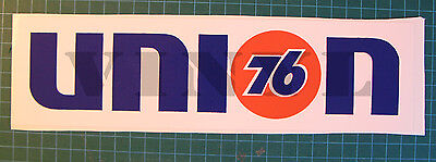"UNION 76 VINYL STICKER DECAL 10 1/2"" x 2 7/8""  SCCA-TRANS AM RACING-NASCAR - OIL"