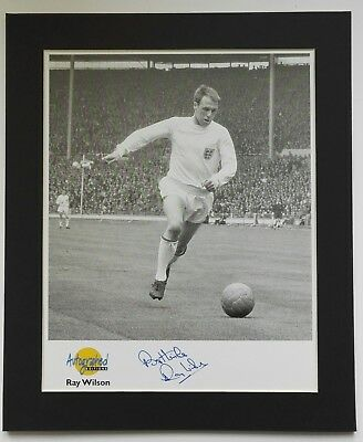 RAY WILSON ENGLAND 1966 SIGNED 12 x 10 MOUNTED AUTOGRAPHED EDITION WORLD CUP