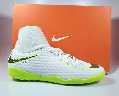 9fb9ebc9b65 Nike PhantomX 3 Academy DF IC Venom Indoor Cleats White Volt AH7274-107  Size 9