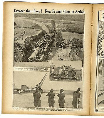 1916 WW1 Magazine WAR DOGS Gomez Carrillo FRANCE Western Front MAP BALKANS (8010