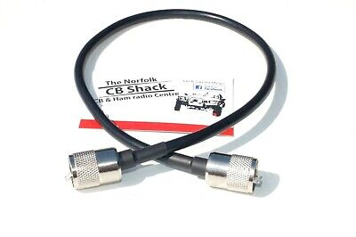 PATCH LEAD 50CM SWR METER CB ANTENNA CB RADIO PL259 PLUG SOLDERED AT EACH END