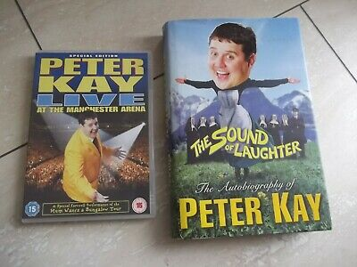 Peter Kay.  THE SOUND OF LAUGHTER . hb  &   Dvd Live At Manchester  Arena. dvd