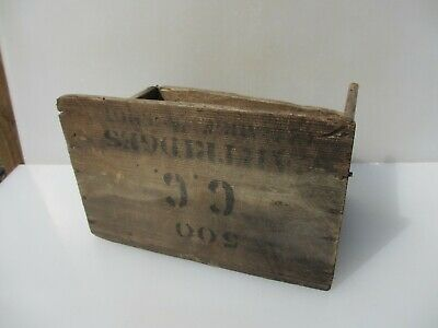 Vintage Wooden Storage Crate Tub Pot Box Army Pine Military Cartridges Old