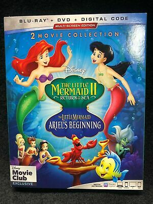 The Little Mermaid 2: Return To The Sea And Ariels Beginning Blu-Ray w/Slipcover