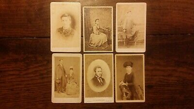 1870'S 6 X Antique Cdvs Photographs By Jk Alderslade Isle Of Wight Newport Iow