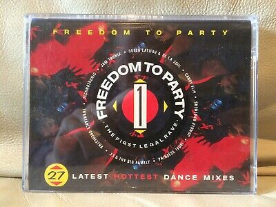 Freedom To Party : The First Legal Rave 1990 Tape House Techno Pop Rap Hip Hop