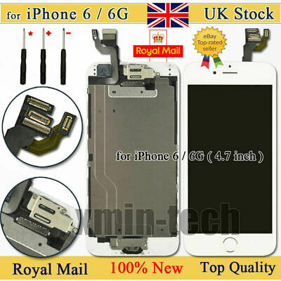 White For iPhone 6 Screen Replacement LCD Display Touch Digitizer Button Camera