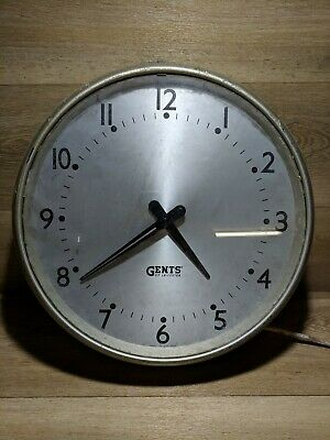 Vintage  GENTS  Of  Leicester   Industrial Factory Office School  Clock FREE P&P