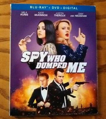 The Spy Who Dumped Me (Blu-ray/DVD/Digital 2018) NEW! w/Slipcover - Mila Kunis