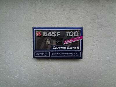 Vintage Audio Cassette BASF Chrome Extra 100 * Rare From Germany 1989 *